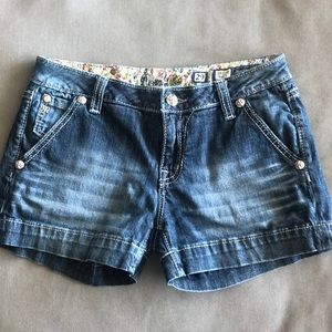 Miss Me Blue Jean Shorts